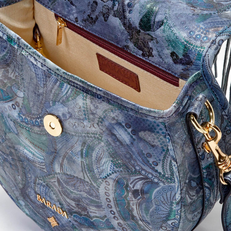 Bolso de Barada azul con correa